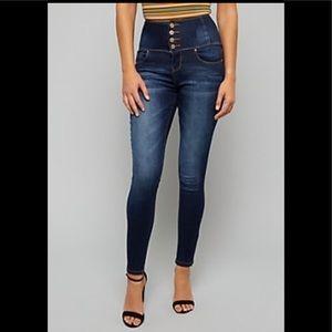 Denim - High Waisted Dark Blue Dressy Jeans ✨